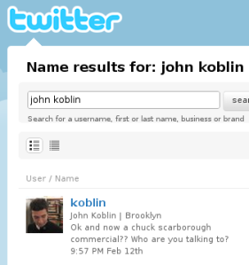 J. Koblin on Twitter